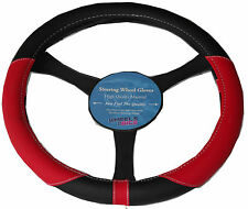 Ford Kuga Galaxy Leather Look Soft Grip Steering Wheel Glove Cover RED KA1325