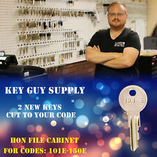 101E-150E key. Pair of 2 keys for HON File cabinet. With code stamp on the keys.