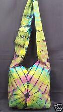 Tie Dye Purse Green Multi Color Cotton Hippie Boho Hobo Shoulder Bag Tote NWT