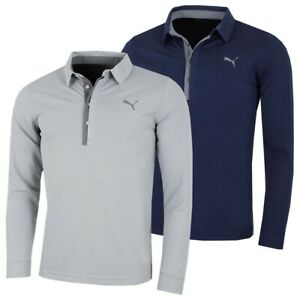 Puma Golf Tailored Fit Long Sleeve Golf Polo Shirt - RRP£65 - ALL SIZES