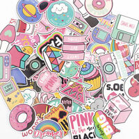 Waterproof Anime Pink Stickers Decals Skateboard Car Luggage Laptop Vinyls 60pcs