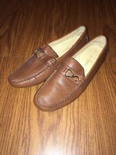 COLE HAAN Men's Brown Leather Driving Loafers Size 9B
