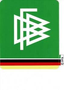 DFB Aufkleber DEUTSCHER FUSSBALL BUND 11,5 x9,5 -Wappen