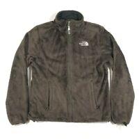 The North Face Womens S Brown Monkey Man Fuzzy Fleece Zip Light Jacket Coat