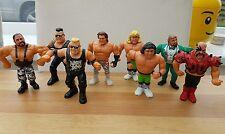 8 Vintage WWF/WWE Wrestler Figures 1991 Titan Sports Hasbro.