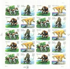Scott#3077-3080 Mnh 1996 32c Pane Of 20 Prehistoric Animals