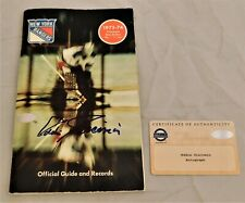 Eddie Giacomin Signed Autographed 1973-74 Rangers Blue Book Yearbook Steiner