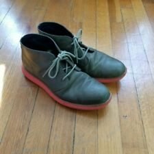 Cole Haan | Mens Lunargrand Chukka Boots 8.5 | Green Leather Orange Bottoms