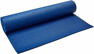 "Yoga Direct 1/4"" Deluxe Extra Thick Yoga Sticky Mat Royal Blue Sealed New Shape"