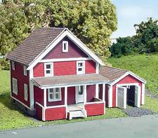 SUBURBAN HOUSE & GARAGE N Scale Model Railroad Structure Unptd Laser Kit LA873
