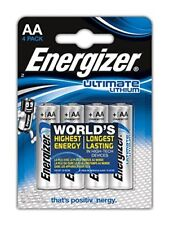 Pack of 4 Energizer AA ULTIMATE Lithium Batteries 1.5v LR6 L91 Digital Camera