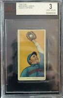 1909 T206 Sweet Caporal Rebel Oakes BVG 3 VG