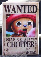 "Chopper Wanted Poster 2"" X 3"" Fridge / Locker Magnet. One Piece Anime"