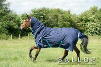 Gallop Trojan 350g Heavyweight Horse Turnout Rug Combo Full Neck Waterproof