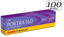 100 Rolls Kodak Portra 160 35mm Film 135-36 ISO 160 Color Negative FRESH 11/2018