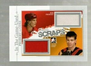 PROBERT-COXE 2014-15 In the Game Classic Scraps Dual Jersey Game-Used!