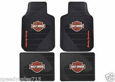 Plasticolor Universal Fit Harley B&S Front & Rear Floor Mats New Free Shipping