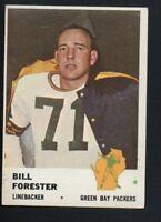 1961 Fleer Football Card #97 Bill Forester-Green Bay Packers