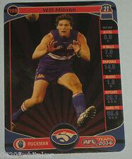 2014 Teamcoach Western Bulldogs Gold Card #198 Will Minson