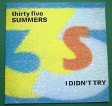 "Thirty Five Summers I Didn't Try 12"" Single"
