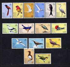 BIOT B.I.O.T. 63-77 SG 62/76 Birds Definitive PO Fresh set Mint NH