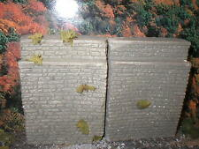 2 Sections Of Rock Wall For Ho-O Scale Model Layouts