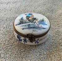 Vintage Tiffany & Co. France Hand Painted Hinged Trinket Box READ DESCRIPTION