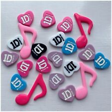 Job Lot 1D 1 Direction Music Note Flat Back Resin Embellishments bows Crafts