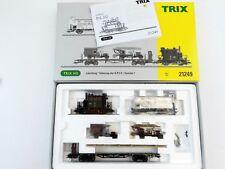 TRIX 21249 Set Preußischer Güterzug Löschzug K.P.E.V Glaskasten DCC + Analog H0