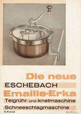 Eschebach Radeberg Prospekt Die neue Knetmaschine Emaille Erka 1937