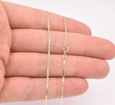 1.2mm Mariner Anchor Link Chain Necklace Real Solid 10K Yellow Gold