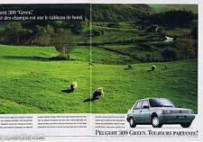 PUBLICITE ADVERTISING 105  1990  PEUGEOT  la 309 GREEN  ( 2p)
