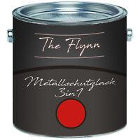The Flynn Metallschutzlack 3-in-1 Feuerrot RAL 3000 2,5L 5L 10L TOP! Rot