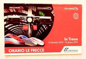 TRENITALIA Italy Train Schedule 2013 FRECCIAROSSA Milano Roma Venezia Trieste