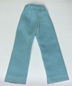Vintage Barbie Ken Doll 60's-70 Light Blue Casual Dress Pants Metal Snap Button