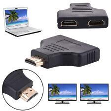 1x HDMI Stecker auf 2x Buchse Full HD 1080P HDMI-Y Adapter Splitter Verteiler