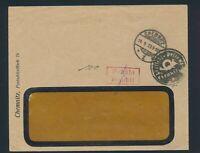 Dt. Reich 1923, CHEMNITZ-Geb.bez., Negativstempel, gepr. Infla Peschl