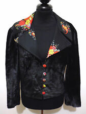 CULT VINTAGE '70 Giacca Donna Velluto Woman Velvet Jacket Sz.M - 44