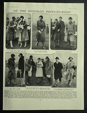 Pytchley Point-To-Point Imogen Grenfell Lady Cecily Vesey 1930 Photo Article