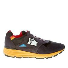 ATLANTIC STARS men shoes Anthracite grey suede and tech fabric Polaris sneaker
