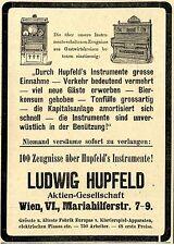 100 Zeugnisse über Hupfeld's Instrumente Wien  Ad 1910