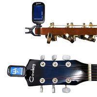 LCD Digital Clip On Guitar Tuner Electronic Chromatic Bass Violin Ukulele NEW