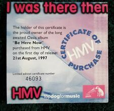 More details for oasis - be here now i was there then hmv certificate number: 46093
