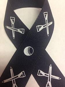 "7/8"" Golf Navy Blue Grosgrain Ribbon"