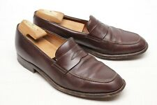 Gravati Mens Dress Shoes 10 M Brown Leather Penny Loafers Made in Italy