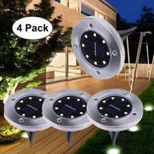 Pacote com 4 Luzes 8LED Solar Chão Piso Deck Pátio Gramado Jardim Ao Ar Livre lâmpada de caminho
