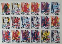 2020/21 Match Attax UEFA - Set of 18 Mega Stars inc Messi Haaland Mbappe Neymar