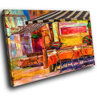 AB667 Retro Colourful Café Modern Abstract Canvas Wall Art Large Picture Prints