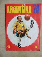Complete FKS Wonderful World of Soccer Stars Argentina 78 Album
