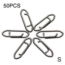 50PCS Tactical Anglers Stainless Steel Power Clips High Strength Fishing Snap